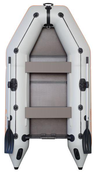 Čln Kolibri KM-280 P šedý, pevná podlaha (KM-280 P pevná skladacia podlaha)