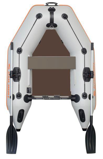 Čln Kolibri KM-200 P šedý, pevná podlaha (KM-200 P pevná skladacia podlaha)