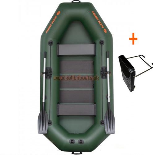 Čln Kolibri K-280 T lamelová podlaha + držiak motora