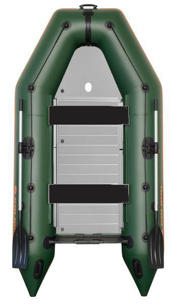 Čln Kolibri KM-300 D zelený, hliníková podlaha (KM-300 D pevná hliníková podlaha)