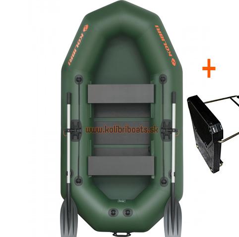 Čln Kolibri K-250 T profi, lamelová podlaha + držiak (K-250 T profi, lamelová podlaha a držiak motora)