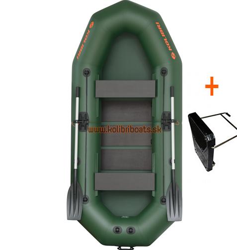 Čln Kolibri K-290 T profi, lamelová podlaha + držiak (K-290 T profi, lamelová podlaha a držiak motora)