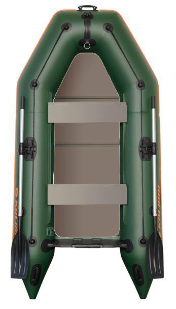 Čln Kolibri KM-260 P zelený, pevná podlaha (KM-260 P pevná skladacia podlaha)