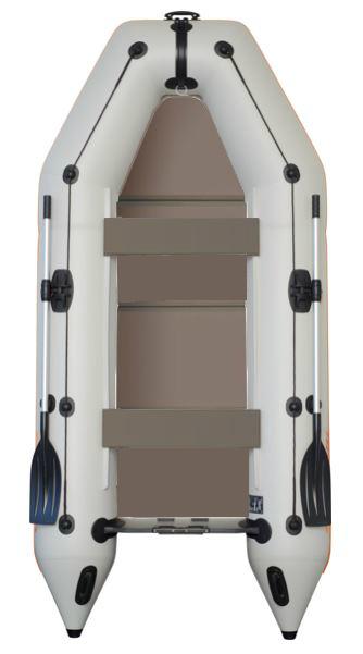 Čln Kolibri KM-330 P šedý, pevná podlaha (KM-330 P pevná skladacia podlaha)