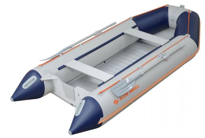 Čln Kolibri KM-300 D šedo modrý, hliníková podlaha (KM-300 D hliníková vystužená podlaha)