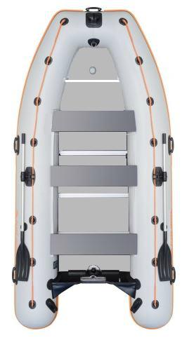 Čln Kolibri KM-450DSL šedý s hliníkovou podlahou predvádzací model (KM-450DSL hliníková vystužená podlaha)