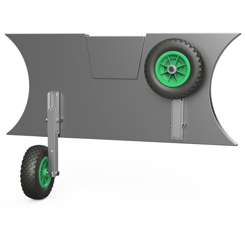 Kolieska prepravné HD200 čierno/zelené